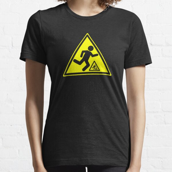 Warning Signs Are Hazardous (on black only) Essential T-Shirt