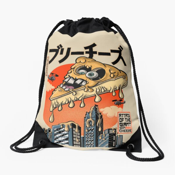 Giant ZomBrie Cheese Drawstring Bag