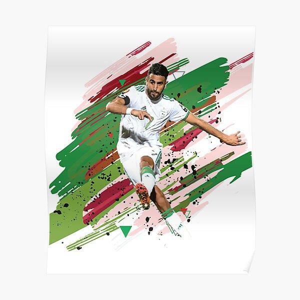 riad mahrez Algérie nigeria objectif du coup franc final 2019 Poster