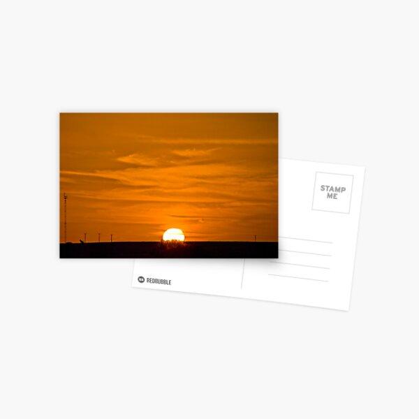 Marree Sunset - South Australia Postcard