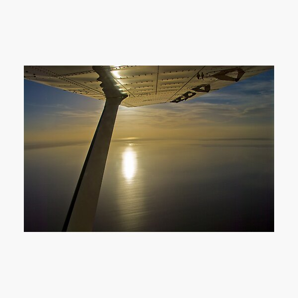 Winging over Lake Eyre - South Australia Photographic Print