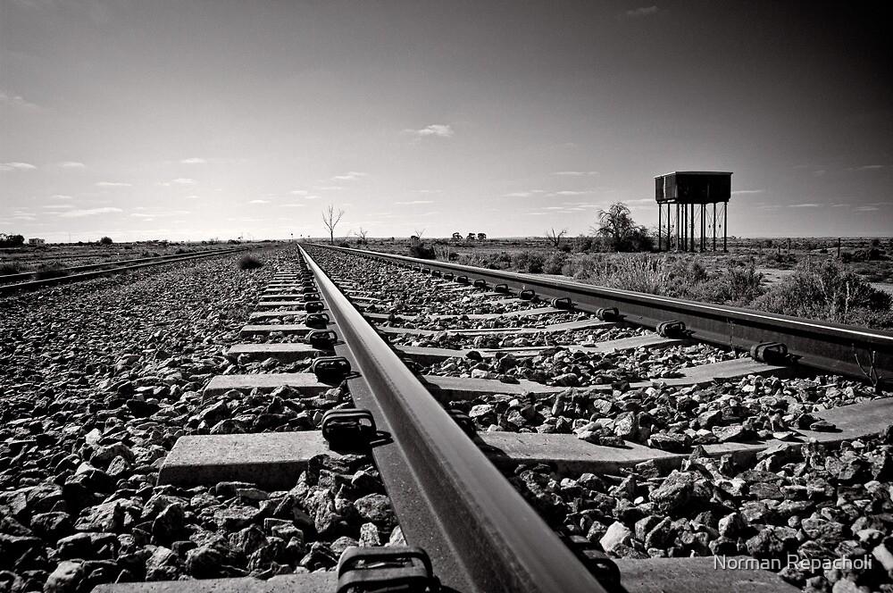 Outback Rails - Olary - South Australia by Norman Repacholi