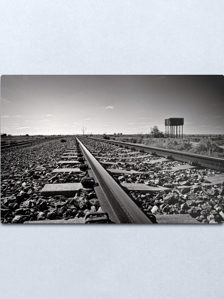 Alternate view of Outback Rails - Olary - South Australia Metal Print