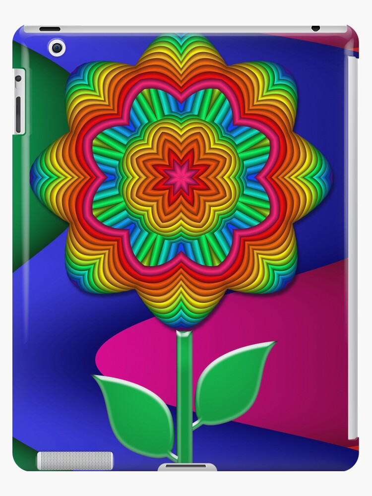 The Rainbow Flower, design for the iPad by walstraasart
