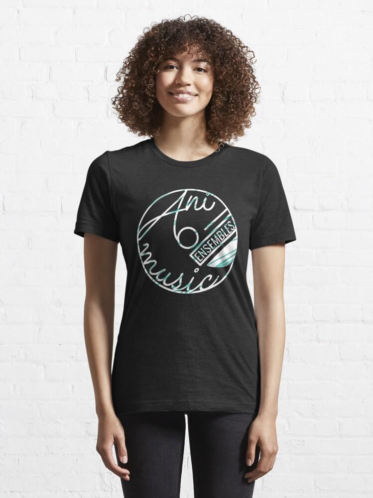 Alternate view of Animusic Logo on Black Essential T-Shirt