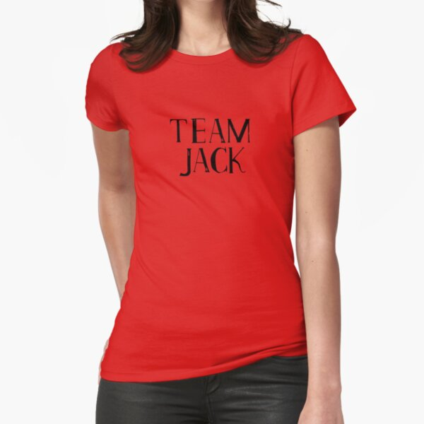 Team Jack - smaller black logo Fitted T-Shirt