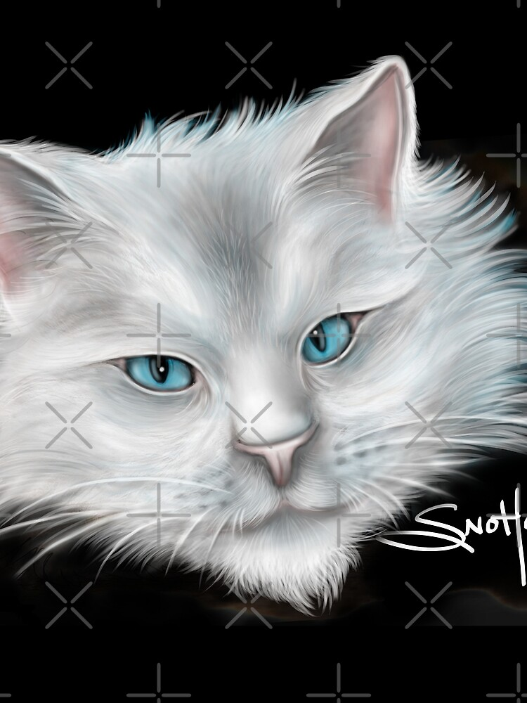 White Kitty Cat with Blue Eyes by snohock