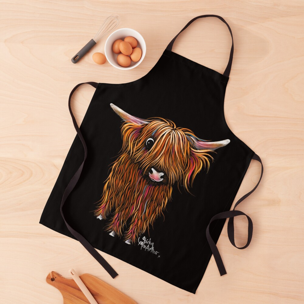 HiGHLaND CoW PRiNT SCoTTiSH ' PoRRiDGe ' BY SHiRLeY MacARTHuR Apron