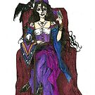 Gypsy Woman with Raven Cards and Prints by gothscifigirl