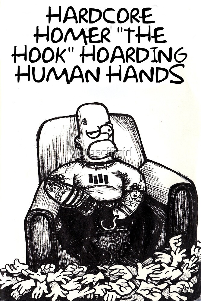 Hardcore Homer Simpson Cards and Prints by gothscifigirl