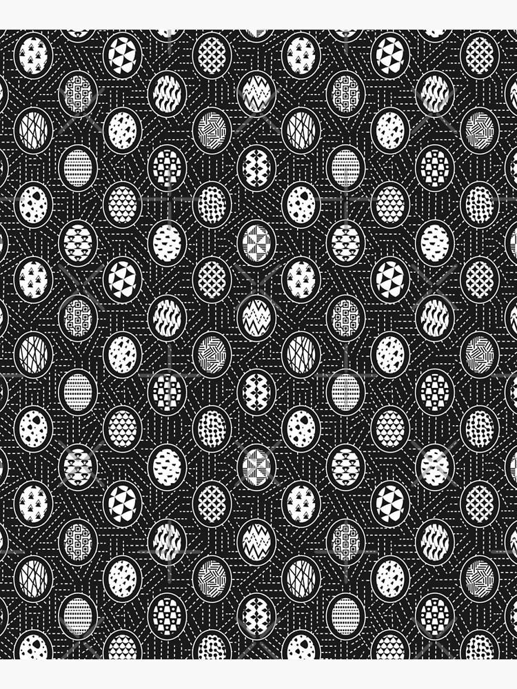 Monochrome Easter Geometry by runcatrun
