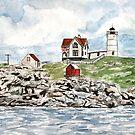 Cape Neddick Lighthouse painting by derekmccrea