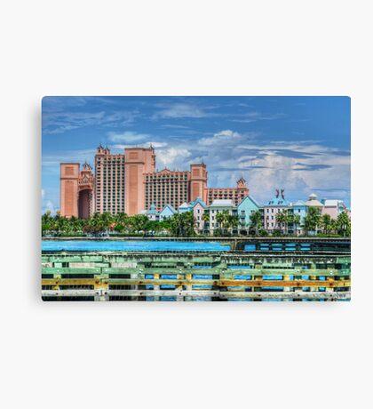 Atlantis and Harbor Village in Paradise Island, Nassau, The Bahamas Canvas Print