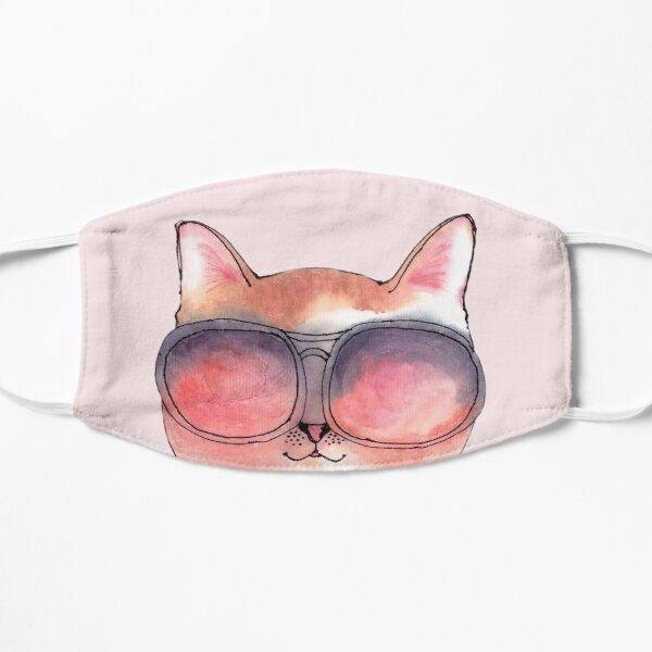 Cat wearing Rosy Glasses Mask