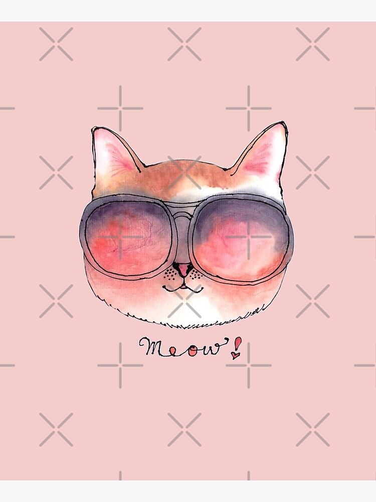 Cat wearing Rosy Glasses by whya