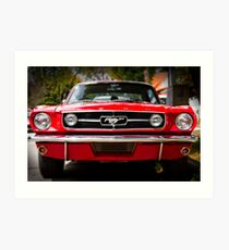 """Ford Mustang 65 """"The Red Pony"""" Art Print"""