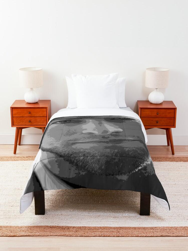 Alternate view of Chace Crawford Black & White Pop Art Portrait Comforter