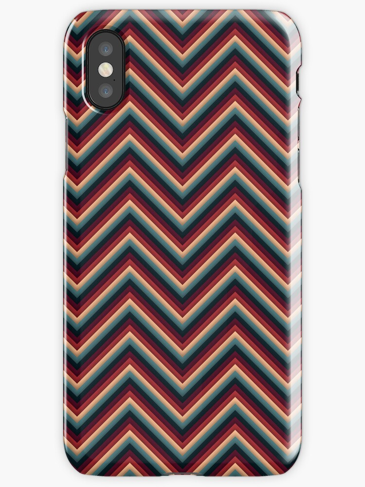 Chevron (Red/Grey) iPhone Case by papertopixels