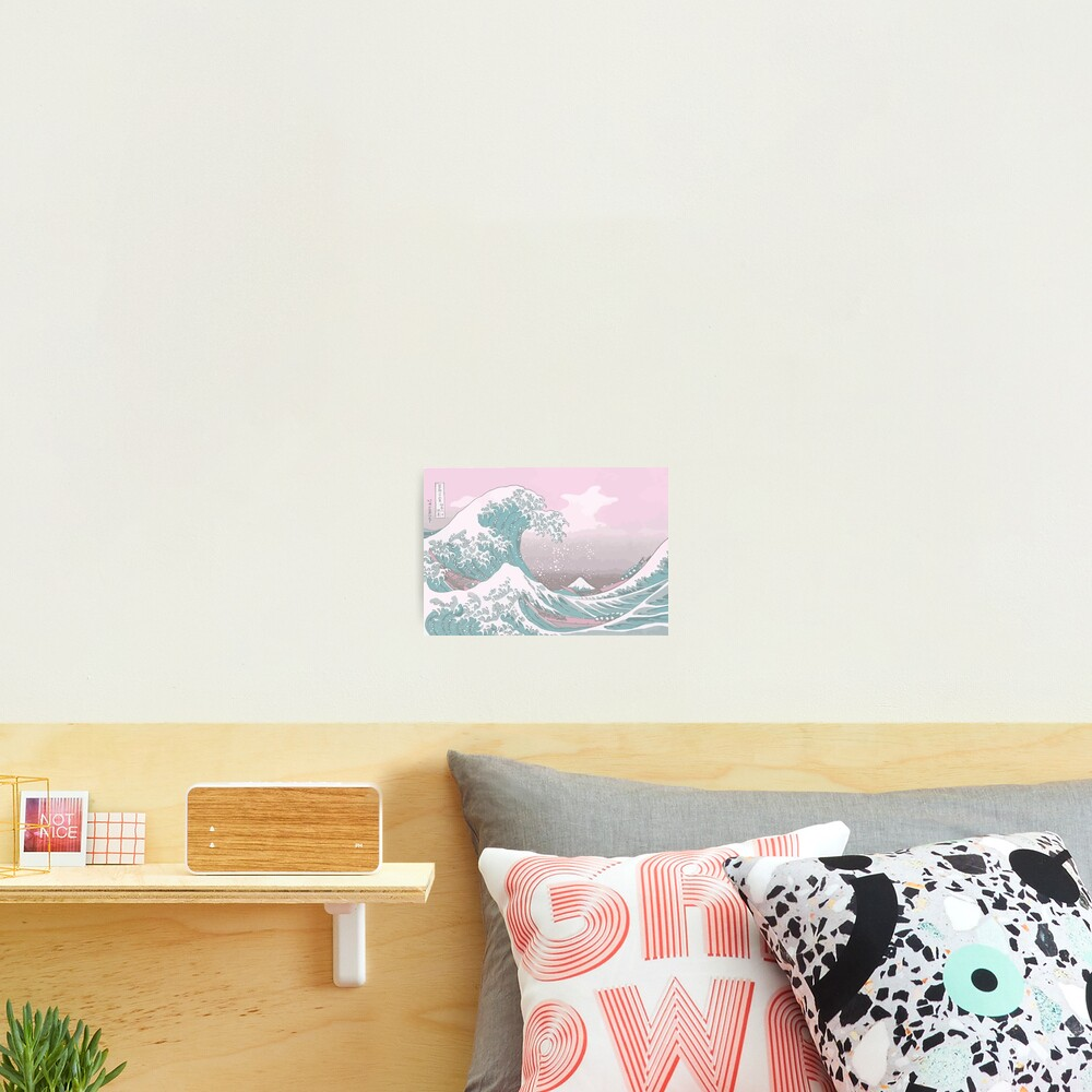 Pastel The Great Wave off Kanagawa Photographic Print