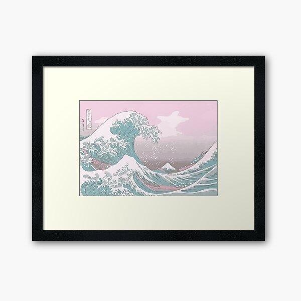 Pastel The Great Wave off Kanagawa Framed Art Print
