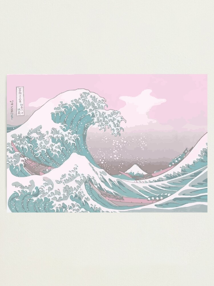 Alternate view of Pastel The Great Wave off Kanagawa Photographic Print