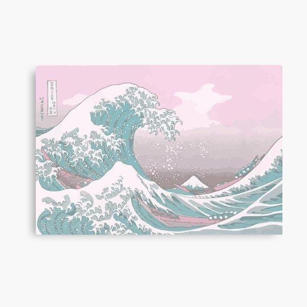 Pastel La Grande Vague au large de Kanagawa Impression sur toile