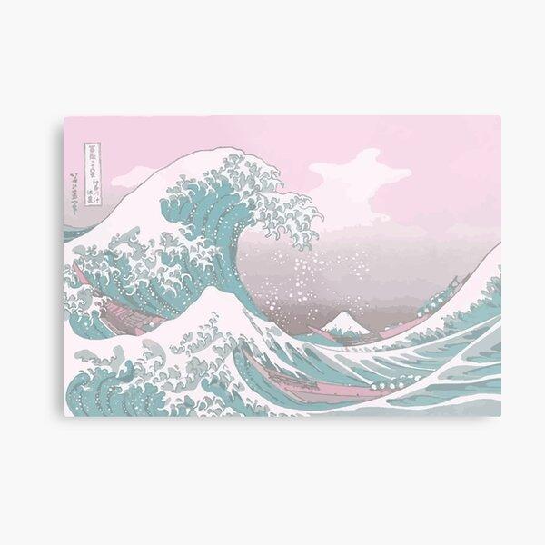 Pastel The Great Wave off Kanagawa Metal Print