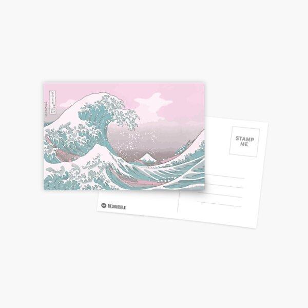 Pastel La gran ola de Kanagawa Postal