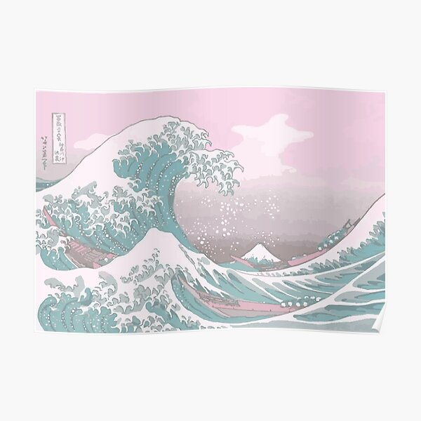 Pastel The Great Wave off Kanagawa Poster