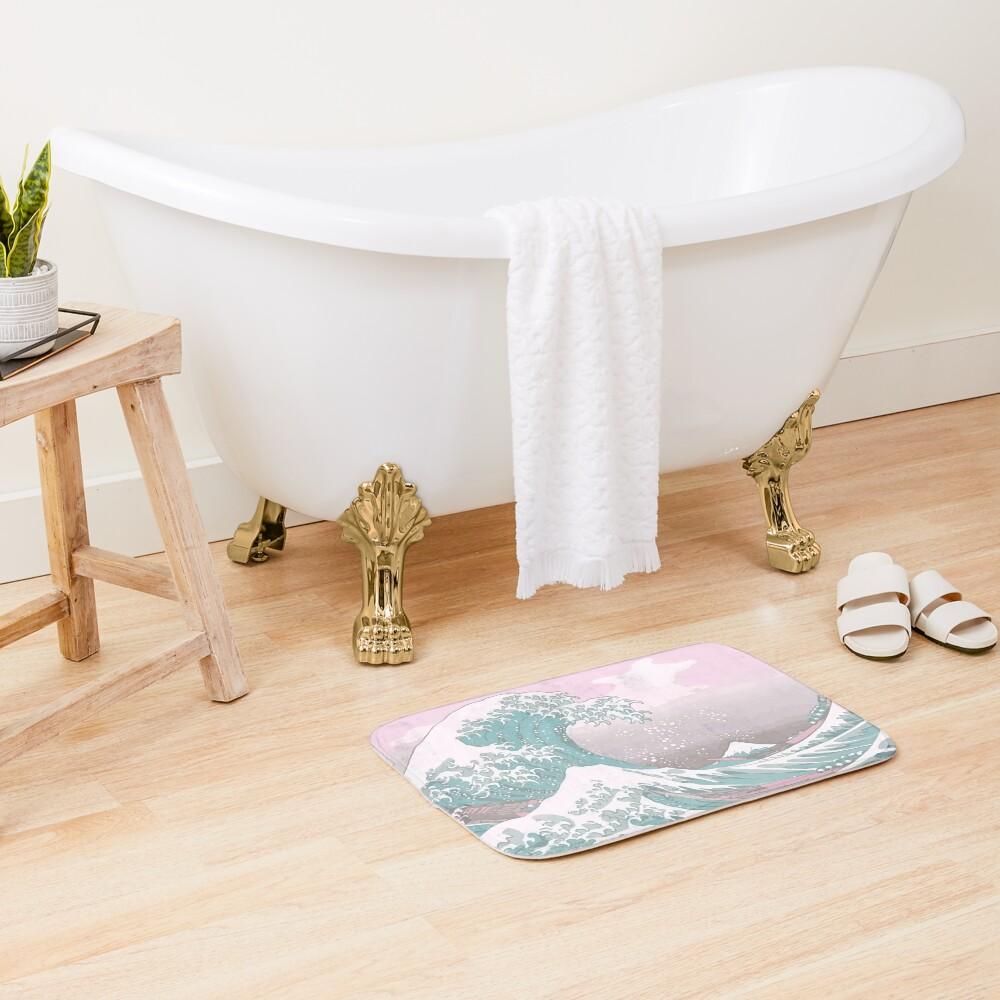 Pastel The Great Wave off Kanagawa Bath Mat