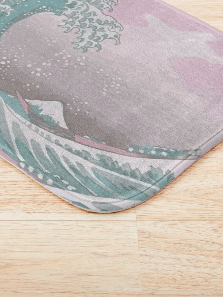 Alternate view of Pastel The Great Wave off Kanagawa Bath Mat