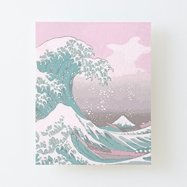 Pastel The Great Wave off Kanagawa Canvas Mounted Print