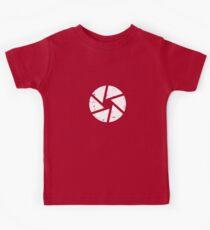 Iris Logo, White Kids Tee