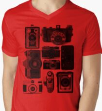Old Cameras Men's V-Neck T-Shirt