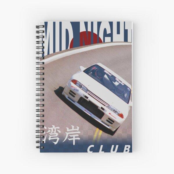 Mid Night Club Japan - Nissan R32 Spiral Notebook