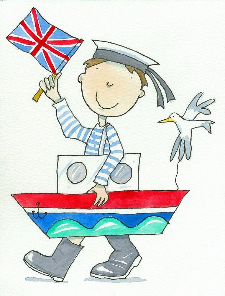 Fancy Dress Parade Sailor Boy  by AndyLanhamArt