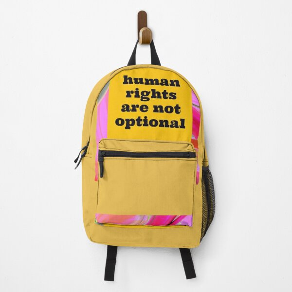 Human rights are not optional Backpack