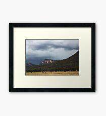 Glen Davis Mountains Framed Print