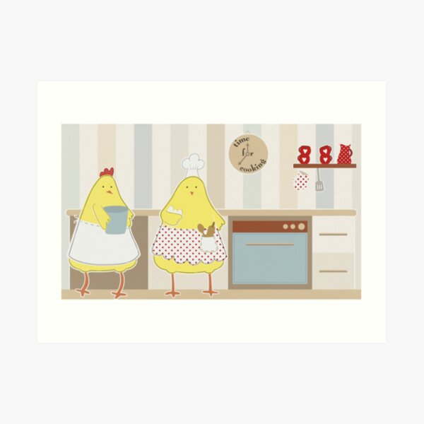 Time For Cooking Art Print