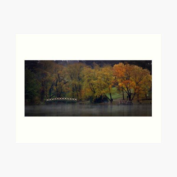 Autumn Colours - Lake Daylesford Art Print