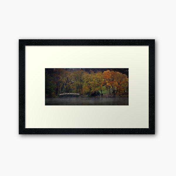 Autumn Colours - Lake Daylesford Framed Art Print