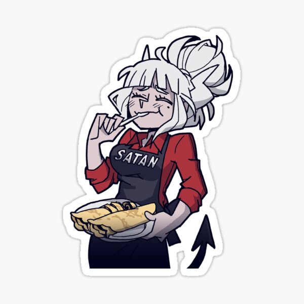 Helltaker Lucifer mangeant des crêpes Sticker
