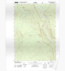 USGS TOPO Map New Hampshire NH Crawford Notch 20120508 TM Poster