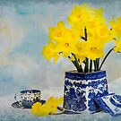Spring in Blue Vintage by Trudy Wilkerson