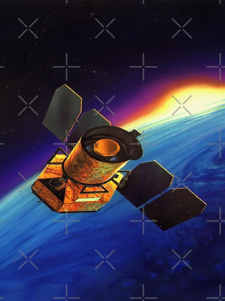 Galaxy Space Satellite Sunset by JoyAndValorLife