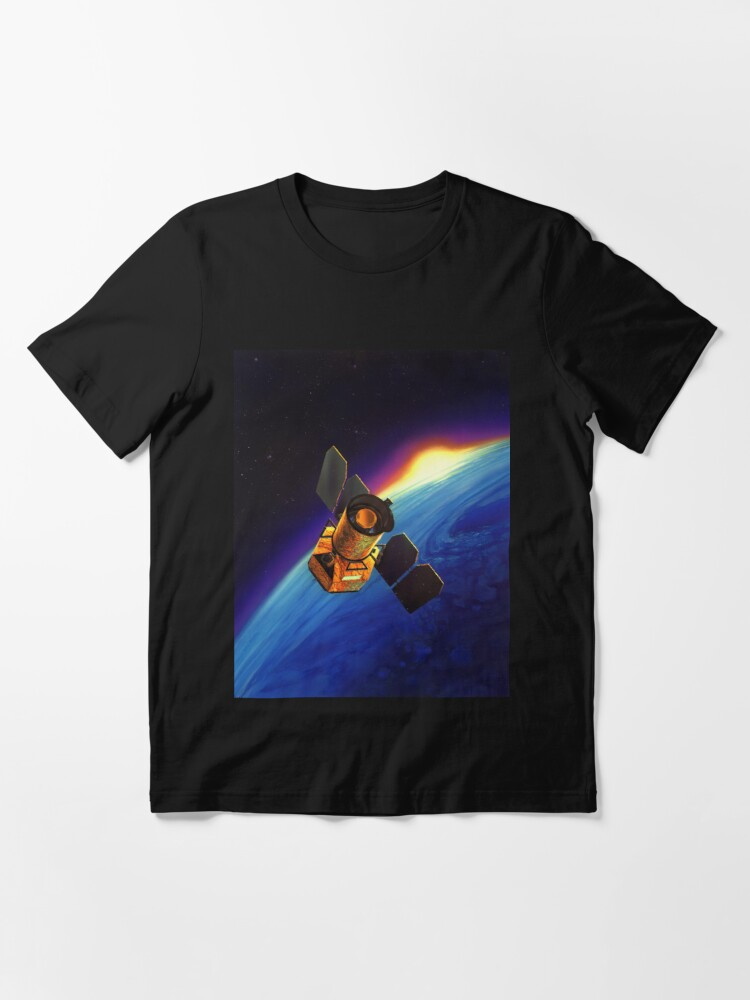 Alternate view of Galaxy Space Satellite Sunset Essential T-Shirt