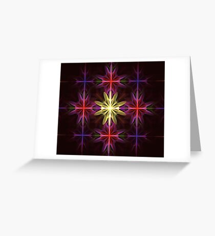 Grid Flowers Greeting Card