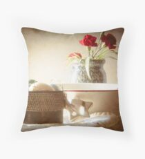 red rimmed bowl Throw Pillow