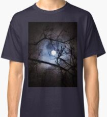 The Full Moon Between Branches Classic T-Shirt