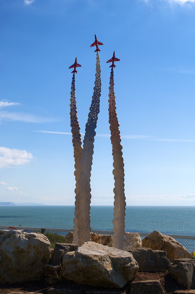 Red Arrows Memorial by Chris Day